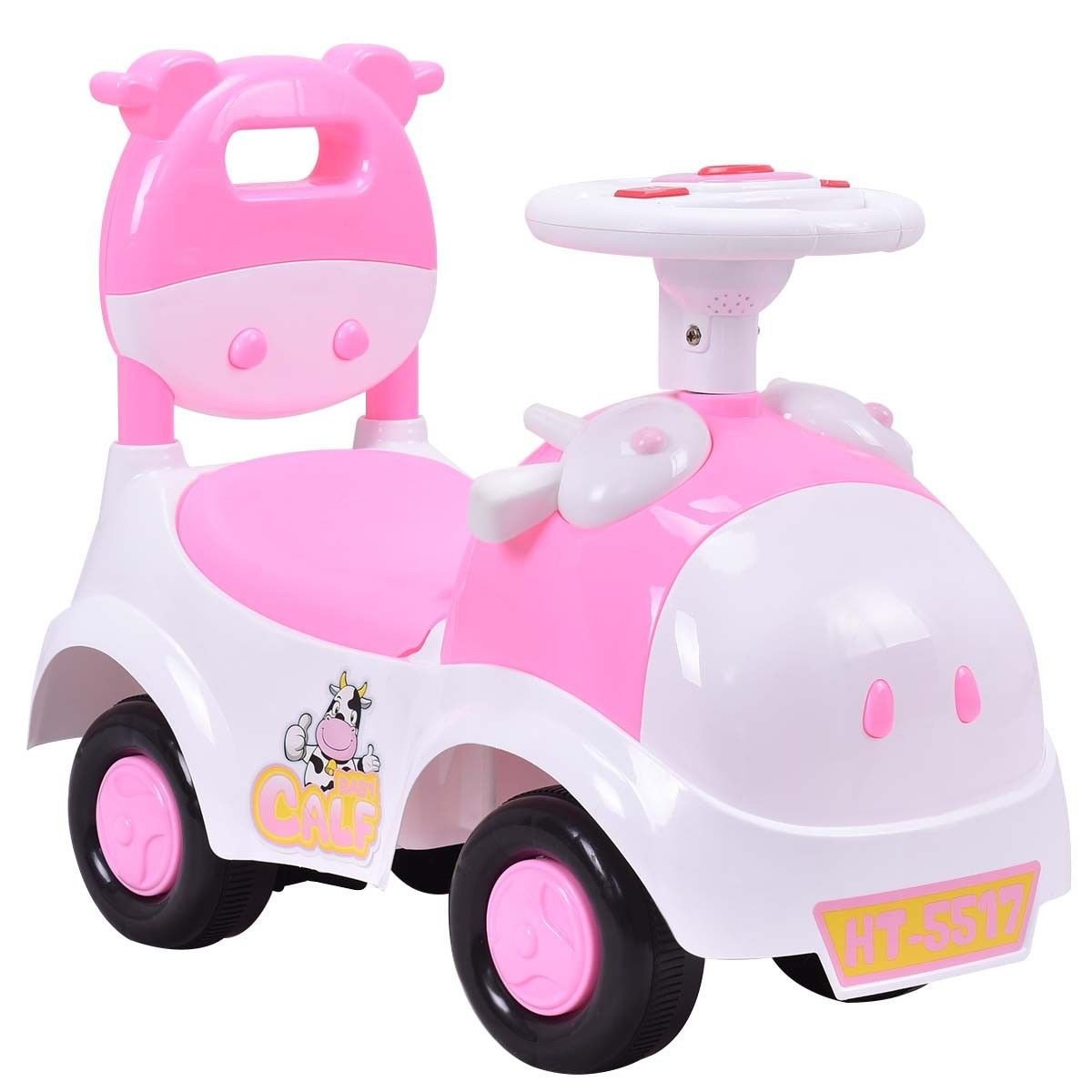 Sliding Pushing Children Car with Horn and Music Toy Car