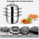 Cooking Modern 3 Tier Stainless Steel Steamer Set Cookware Pot Saucepot