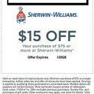 Sherwin Williams Coupon $15 Off