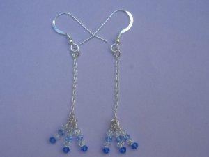 Swarovski Crystal Silver Earrings - SEB001