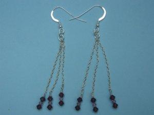 Swarovski Crystal Silver Earrings - SEP001