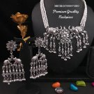 Oxidised Jewelry, German silver Necklace, Elephant design necklace set