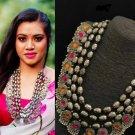 Boho-Hippie multi stone necklace | Free shipping