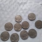 Lot of 9 buffalo head nickels