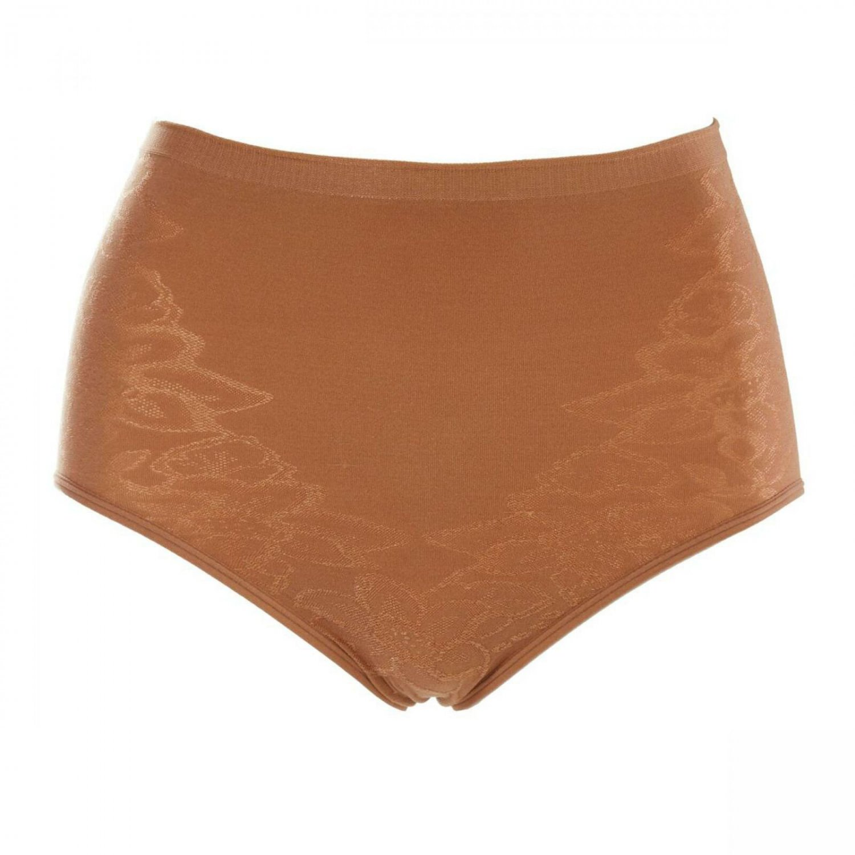 Rhonda Shear Women's Jacquard Ahh Brief Panties X-Large Caramel