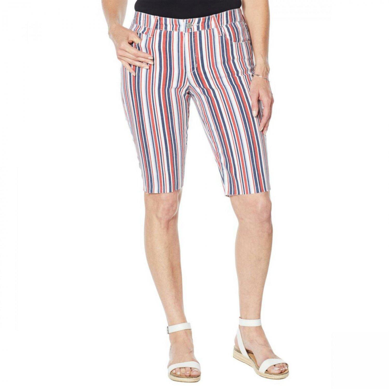 Skinnygirl Women's Carrie Skimmer Shorts 31 Nantucket Stripe