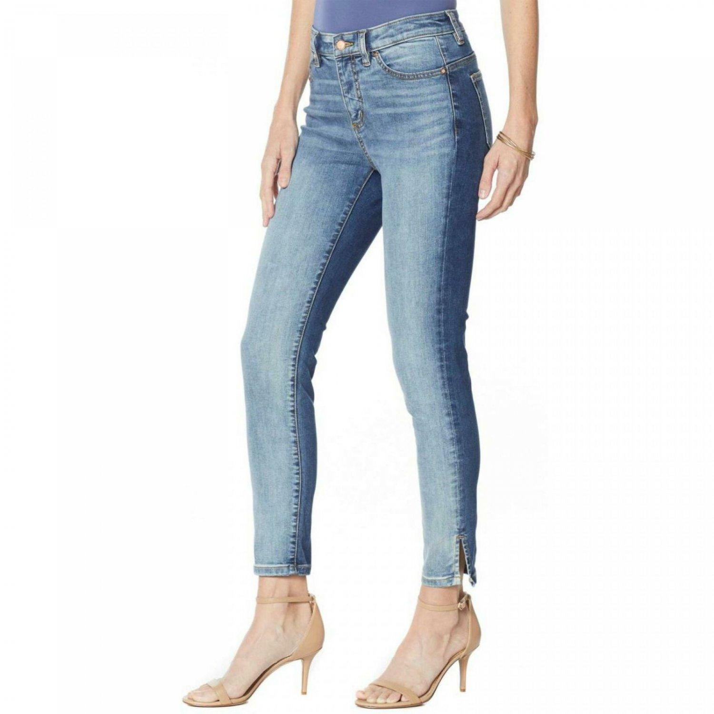 G by Giuliana Women's Petite G-Sculpt Side Stripe Ankle Jeans 12 Petite LA Two Tone Wash