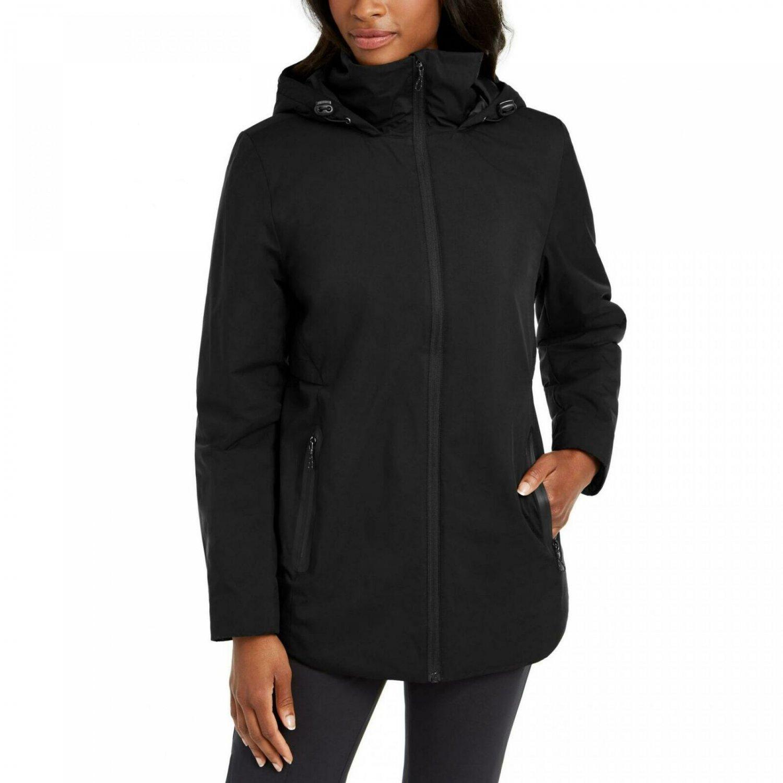 Hi-Tec Women's Devil Mountain Hooded Raincoat Small Black