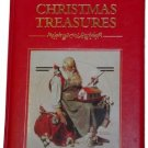Large Leather CHRISTMAS TREASURES Hardback Gilt Book