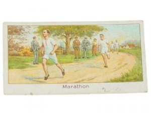 ANTIQUE TURF #29 RUNNING MARATHON TOBACCO CARD