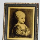 Old BABY STUART Picture & Photo Frame Gold & Black