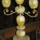 Yellow & white Marble Candle Lamp.