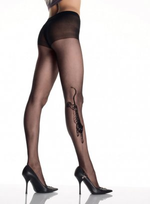 Tiger Tattoo Sheer Pantyhose
