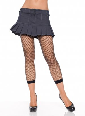 Industrial Net Footless Tights- O/S RED