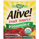 Nature's Way, Alive!, Fruit Source, Vitamin C, Drink Mix Pow, Orgi Acerola Fruit , 4.23 oz (120 g)