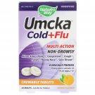 Nature's Way, Umcka, Cold+Flu, Orange, 20 Chewable Tablets