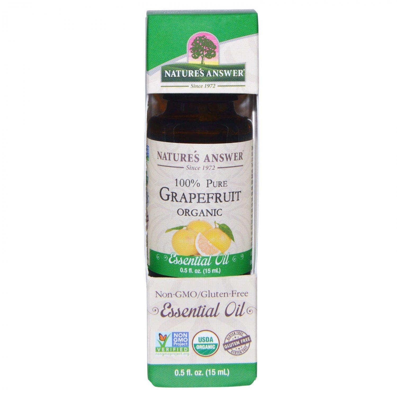 Nature's Answer, Organic Essential Oil, 100% Pure Grapefruit, 0.5 fl oz (15 ml)