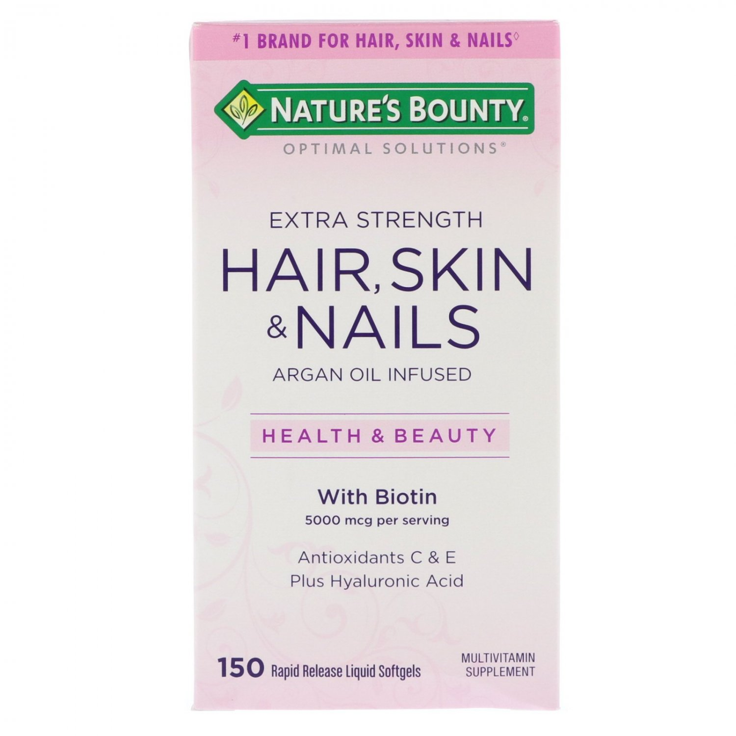 Nature's Bounty, Optimal Solutions, Extra Strength Hair, Skin & Nails, 150 Rapid Release Liq Soft