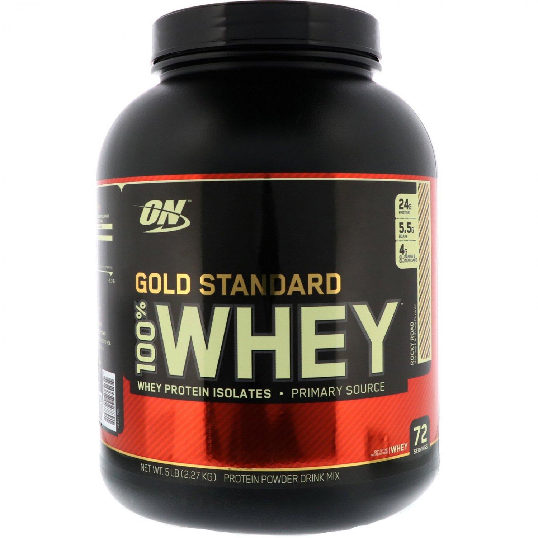Optimum Nutrition, Gold Standard, 100% Whey, Rocky Road, 5 lbs (2.27 kg)