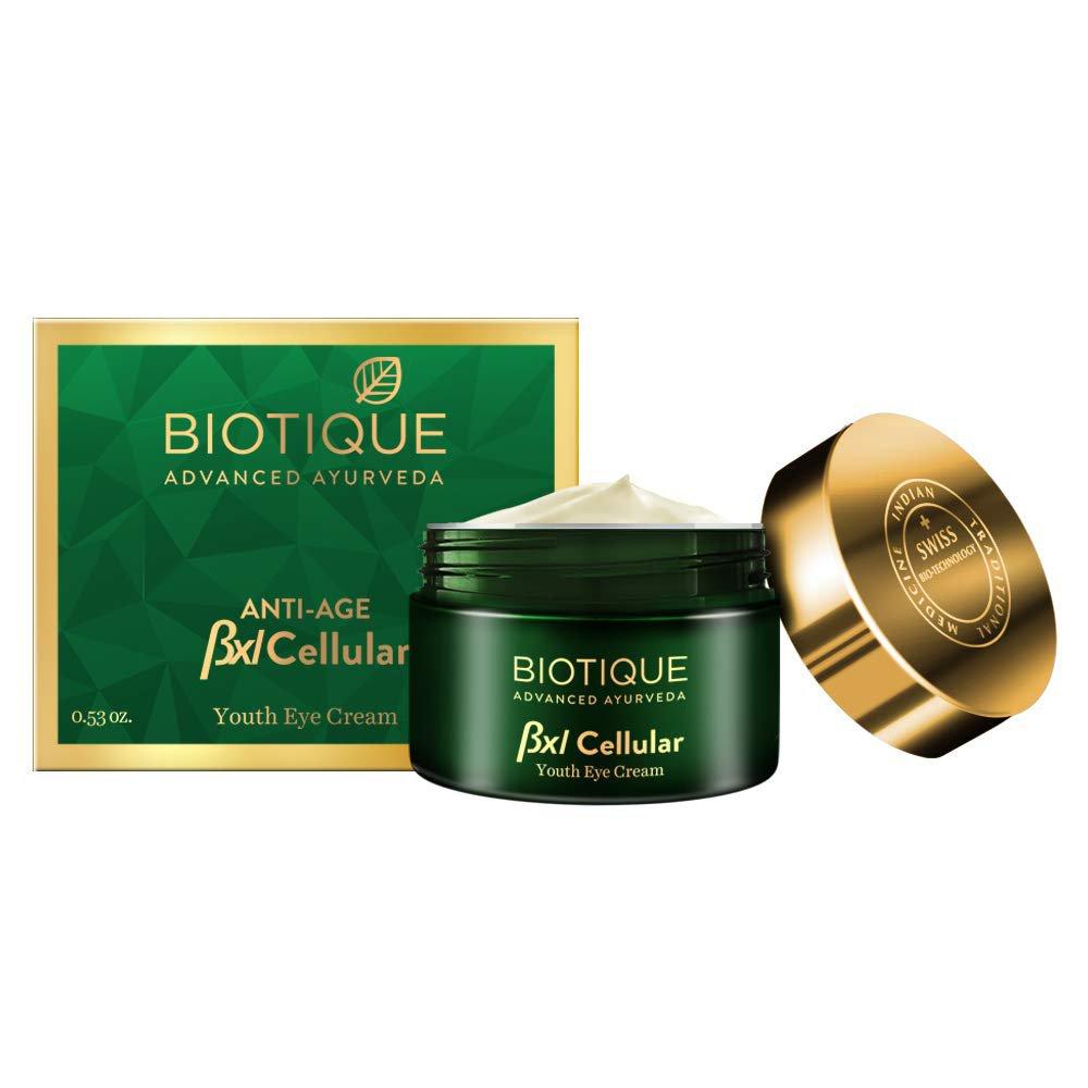 Biotique Anti Age Bxl Cellular Youth Eye Cream 15 g for Dry Skin