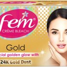 Fem Gold 24K Gold Dust With Special Golden Glow Cream Bleach 24gm Pack