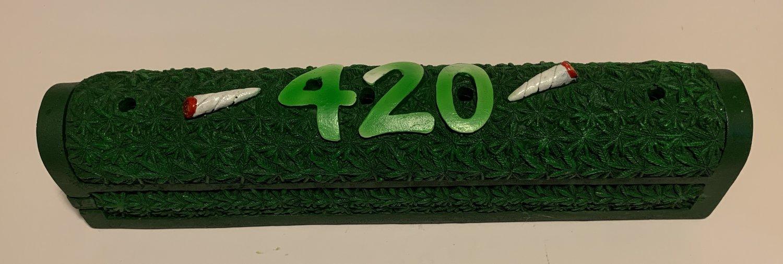 420 Hemp Leaf Coffin Incense Burner Ash Catcher