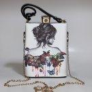 Butterflies Art Deco Petite Tote Handbag