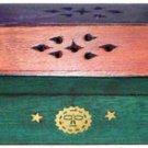 Multi Color Coffin Wood Incense Burner