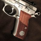 Cz 75B grips made from Walnut wood and Cz Logo made of Silver.