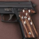 Sig Sauer M11-A1 grips made of walnut wood  with custom logo made of silver.