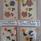 Created by...Victoria's Garden Journal with Real Flowers and Leaves - Lot of 4!
