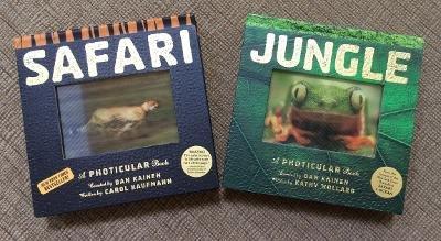 Safari and Jungle: A Photicular Book Hardcover Books by Dan Kainen - 2012!