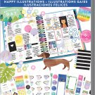 The Happy Planner® Happy Illustrations Value Pk Stickers-Me & My Big Ideas-4 classic size planners