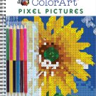 ColorArt: Pixel Pictures Book with Colored Pencils Spiral-bound by Publications International Ltd.!