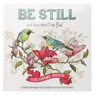 Be Still and Know That I Am God Coloring Book with Scripture from the Book of Psalms!