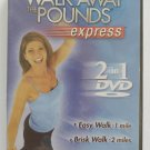Leslie Sansone Walk Away the Pounds Express 2 in 1 Workout DVD - Sealed!