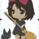 Anime Embroidery Kiki Delivery Chibi