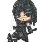 Videogame Embroidery Fortnite Renegade Raider Chibi