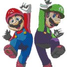 Videogame Embroidery Mario and Luigi
