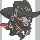 Videogame Embroidery Overwatch McCree Chibi