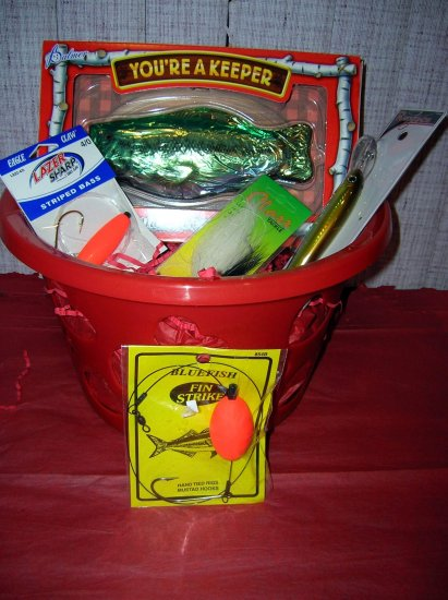 """You're a Keeper""  Valentine's Fishing Gift Basket, Hearts (Saltwater)"