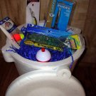 "Jumbo Saltwater Fishing Gift Basket, ""Big Kahuna"", Fishing Gift"
