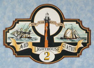 LIGHTHOUSE TIN SIGN DECORATIVE METAL HOME CAFE SIGNS L