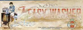 THE EASY WASHER LAUNDRY ROOM TIN SIGN RETRO HOME SIGNS