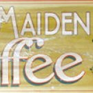 FARM MAIDEN COFFEE TIN SIGN RETRO HOME CAFE BAR SIGNS C