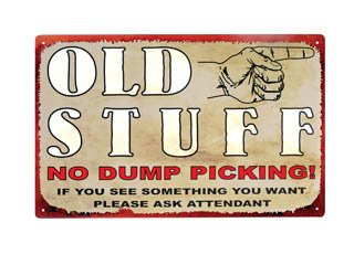 OLD STUFF TIN SIGN DECORATIVE METAL HOME CAFE SIGNS O