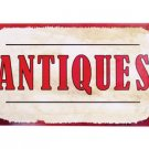 ANTIQUES TIN SIGN DECORATIVE METAL HOME CAFE SIGNS A