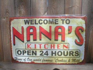 KITCHEN TIN SIGN METAL RETRO ADV AD SIGNS N