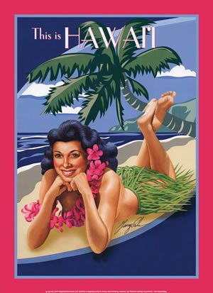 THIS IS HAWAII TIN SIGN METAL ADV RETRO SIGNS H