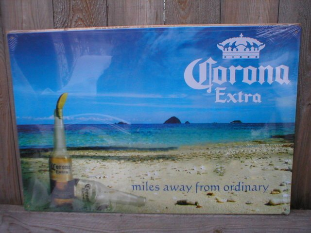CORONA EXTRA TIN SIGN METAL ADV RETRO BEER SIGNS C